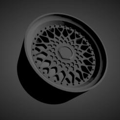 BBS RS.png Download STL file BBS RS SCALABLE AND PRINTABLE RIMS • 3D printer design, rob3rto