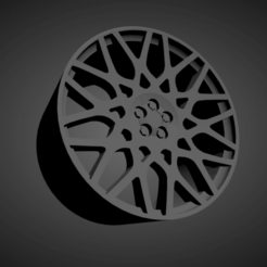 BBS RX-R.png Download STL file BBS RX-R SCALABLE AND PRINTABLE RIMS • 3D printable object, rob3rto