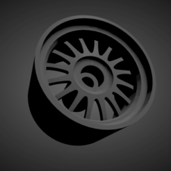 Ronal R8.png Download STL file Ronal R8 WITH BRAKES AND TIRES FOR HOT WHEELS • 3D printing model, rob3rto