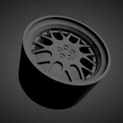 BBS RS-GT.png Download STL file BBS RS-GT SCALABLE AND PRINTABLE RIMS • 3D printer design, rob3rto