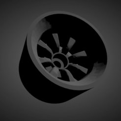 RS Watanabe.png Download STL file RS Watanabe rims with tires for Hot Wheels • 3D printing template, rob3rto