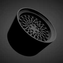 BBS E49.png Download STL file BBS E49 SCALABLE AND PRINTABLE RIMS • Object to 3D print, rob3rto