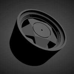 Borbet A.png Download STL file Borbet A SCALABLE AND PRINTABLE RIMS • 3D printing object, rob3rto