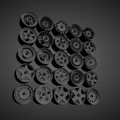 Fifteen52 Collezione.png Download STL file FIFTEEN52 RIMS COLLECTION WITH BRAKES AND TIRES FOR HOT WHEELS • 3D printing design, rob3rto