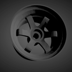Rays Volk TE37 .png Download STL file Rays Volk TE37 rims with brakes and tires for Hot Wheels • 3D print design, rob3rto