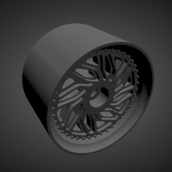 WCI JB1.png Download STL file WCI JB1 RIMS WITH BRAKES AND TIRES FOR HOT WHEELS • Object to 3D print, rob3rto