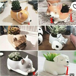 photo5118488534859229238.jpg Download STL file Pack of doggie pots • Design to 3D print, Baxa