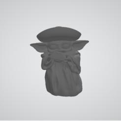 Grogu mexicano.PNG Download OBJ file Mexican Grogu • 3D printing object, Baxa