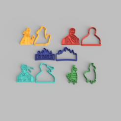 fortnite 5pack v1.png Download STL file fortnite cookie cutter, pack of 5 • 3D printing object, Jordi34x