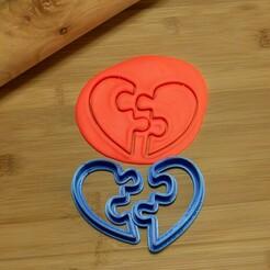 DSC_6288.jpg Download STL file puzzle heart cookie cutter, valentine's day cookie cutter • Template to 3D print, Jordi34x