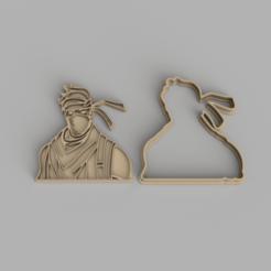ninja.png Download STL file Fortnite character Ninja cookie cutter • 3D print design, Jordi34x