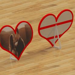 cadre photo-Temp0010.png Télécharger fichier STL gratuit Cadre photo coeur • Design à imprimer en 3D, Dunandlopic