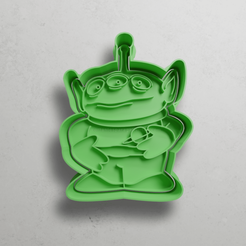 push-diseño.png Download STL file Martian from Toy Story 2 • 3D printer template, escuderolu