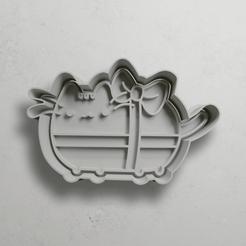 push-diseño.png Download STL file Pusheen the cat • 3D print design, escuderolu