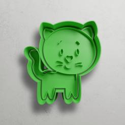 push-diseño.png Télécharger fichier STL Chat • Modèle pour impression 3D, escuderolu
