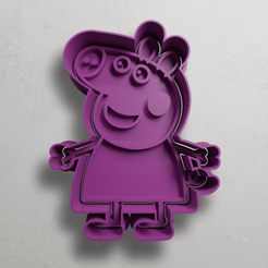 push-diseño.png Download STL file Peppa pig • Template to 3D print, escuderolu
