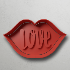 push-diseño.png Download STL file Lips with love letters • 3D printing object, escuderolu
