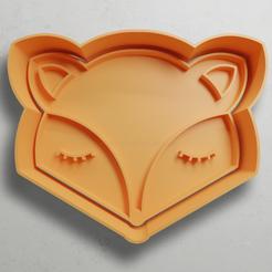 push-diseño.png Télécharger fichier STL Tête de renard • Objet à imprimer en 3D, escuderolu