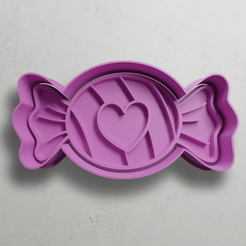 push-diseño.png Download STL file Candy with heart • 3D print object, escuderolu