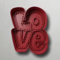 push-diseño.png Download STL file Love letters • Design to 3D print, escuderolu