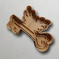 push-diseño.png Download STL file Key with wings • 3D printing object, escuderolu