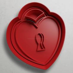 push-diseño.png Download STL file Heart padlock • 3D printer design, escuderolu