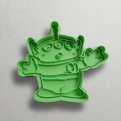 push-diseño.png Télécharger fichier STL Martien de Toy Story • Design imprimable en 3D, escuderolu