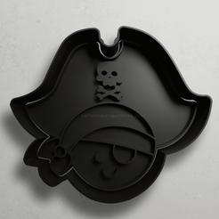 push-diseño.png Télécharger fichier STL Pirate avec patch • Design pour impression 3D, escuderolu
