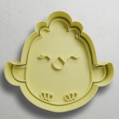 push-diseño.png Download STL file Chicken • 3D printable template, escuderolu
