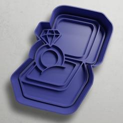 push-diseño.png Download STL file Engagement ring • 3D printable model, escuderolu