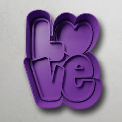 push-diseño.png Download STL file Love Letters • 3D printing object, escuderolu