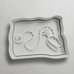 push-diseño.png Télécharger fichier STL Carte au trésor • Plan à imprimer en 3D, escuderolu