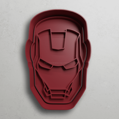 push-diseño.png Download STL file Iron man's head • Model to 3D print, escuderolu