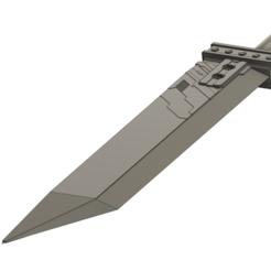 Remake - Buster Sword - Bottom Detail View.png Download STL file Buster Sword - Final Fantasy 7 Remake • 3D printer model, InfidelProps