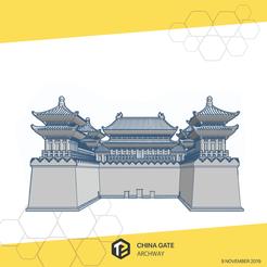chinagate-02.png Download STL file China Gate • 3D print model, tinkerzon