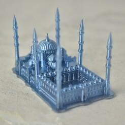 DSC_0037.JPG Download STL file Sultan Ahmed Mosque, Turkey • 3D printable design, tinkerzon