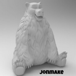 PicsArt_01-22-11.32.36.jpg Download free STL file Polar Bear • 3D print model, JonMAKE