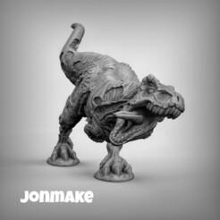 PicsArt_01-22-08.20.15.jpg Download STL file TRex zombie • 3D print design, JonMAKE