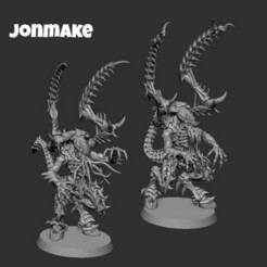PicsArt_01-22-11.29.37.jpg Download STL file Warriors Tyranids • 3D print object, JonMAKE