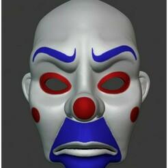 Bozo Front.jpg Télécharger fichier STL MASQUE DE BANQUE JOKER (BOZO) : LE CHEVALIER NOIR • Objet pour imprimante 3D, MortuiSui