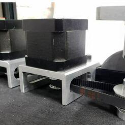 Motor-Mount-w-12mm-Belt-Clearance.jpg Télécharger fichier STL gratuit Support moteur Nema 17 avec dégagement de 13 mm pour la courroie • Plan à imprimer en 3D, 3ddistributed