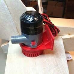 file2.jpeg Télécharger fichier SCAD gratuit Support de pompe de cale Marine Raider Turbo 600 • Plan imprimable en 3D, ljbrumfield