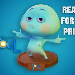 1.jpg Télécharger fichier STL 22 Soul Disney Pixar 3D print model - Fan Art 3D print model • Plan imprimable en 3D, pedramehosseini