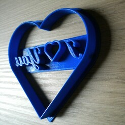 DSCN0099.JPG Télécharger fichier STL I Love You Cookie Cutter Valentine's Day Heart Shaped Cookie Cutter Medium • Design imprimable en 3D, mistrzu