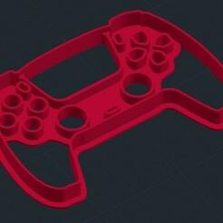 ps5.jpg Télécharger fichier STL Coupe-biscuits inspiré de la manette de la PlayStation 5 PS5 • Objet à imprimer en 3D, mistrzu