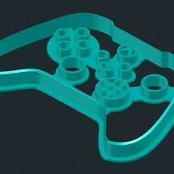 xbox x.jpg Télécharger fichier STL Coupe-biscuits inspiré du contrôleur Xbox X • Design à imprimer en 3D, mistrzu