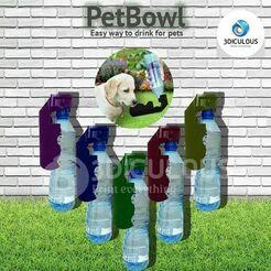 petbowl-3d-model-stl.jpg Télécharger fichier STL bol pour animaux • Design imprimable en 3D, damianos-imad