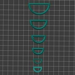 Screenshot_1.jpg Télécharger fichier STL Jeu de couteaux à argile polymère en demi-cercle • Modèle imprimable en 3D, PetitClays