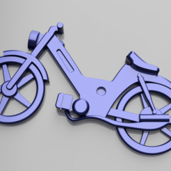 puch keychain.png Download STL file Puch moped 3D keychain • 3D printing template, zdenekberan