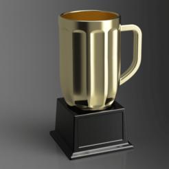 mug render 2.png Download STL file Life-size beer mug / award • 3D printing object, zdenekberan